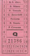 BIGLIETTO BUS BRESCIA (XF216 - Europa
