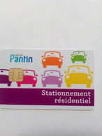FRANCE STATIONNEMENT PARKING PANTIN VERSO NUMEROTE - PIAF Parking Cards