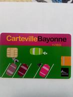 FRANCE STATIONNEMENT PARKING BAYONNE VOIRIE 64 VERSO NUMEROTE - PIAF Parking Cards