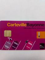 FRANCE STATIONNEMENT PARKING BAYONNE 64 VERSO NUMEROTE - PIAF Parking Cards
