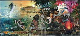 Vanuatu 1999. Michel Bl.#37 MNH/Luxe. Animals. Fishes. Birds. Entry Into The Year 2000 (B33) - Vissen