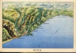 60226 Italia,military Stationery Free Of Charge Feldpost PM.posta Militare,showing Nizza Nice  Cote D'azur,genova Gulf, - Posta Militare (PM)