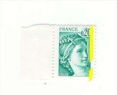 Sabine 0.20fr Vert émeraude YT 1967d Avec Phospho à Cheval . Superbe , Voir Scan . Cote YT : 5 € Maury N° 1967a : 10 € - Varietà: 1970-79 Nuovi