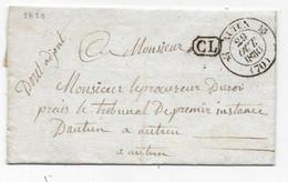 Département SAONE ET LOIRE CAD AUTUN Type 12 + CL + Franchise DOUT - 1801-1848: Precursors XIX