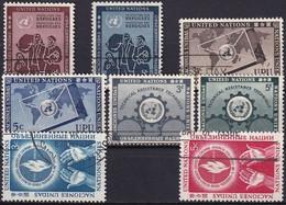 UNO NEW YORK 1953 Mi-Nr. 19-26 Kompletter Jahrgang/complete Year Set O Used - Gebraucht