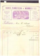 WIMMIS - FABRIQUE D'ALLUMETTES CHIMIQUES HANS ZUMSTEIN - TB - Schweiz