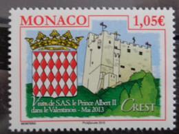 MONACO 2013 Y&T N° 2875 ** - VISITE DE S.A.S. LE PRINCE ALBERT II DANS LE VALENTINOIS - Nuevos