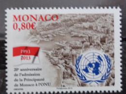 MONACO 2013 Y&T N° 2879 ** - 20é ANNIV. DE L'ADMISSION DE LA PRICIPAUTE DE MONACO A L'ONU - Nuevos