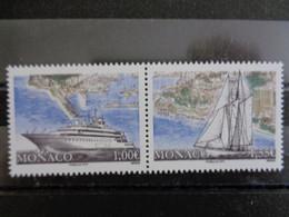 MONACO 2013 Y&T N° 2893 & 2894 ** - BATEAU ET VOILIER - Unused Stamps