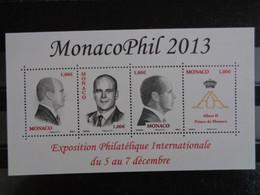 MONACO 2013 Y&T N° F 2903 ** - EXPOSITION PHILATELIQUE INTERN. DU 5 AU 7 DECEMBRE - Nuevos