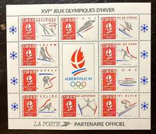 "Timbres France Bloc YT 14c "" Albertville JO D'hiver, Centre Brillant "" 1992 Neuf** - Ungebraucht"
