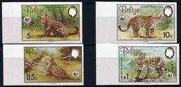 1983 Belize WWF Jaguar Imperforated Set (** / MNH / UMM) - Neufs