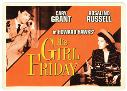 Vintage Cary Grant & Rosalind Russel In His Girl Friday - Acteurs