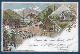 Gruss Aus  WOLFENSCHIESSEN  ( 1898 ) - NW Nidwalden