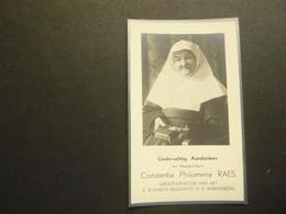 Doodsprentje ( 3924 ) Begijn  Begijntje Overste Begijnhof Raes -  Sint Laureins  Sint Amandsberg 1934 - Avvisi Di Necrologio