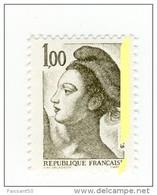 Liberté 1fr Olive  YT 2185d Avec Petit Phospho à Cheval . Pas Courant , Voir Le Scan . Cote YT : 6 € . - Varietà: 1980-89 Nuovi