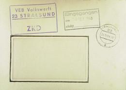 """Fern-Brief Mit ZKD-Kastenstpl. """"VEB Volkswerft 23 STRALSUND"""" 24.12.68 Nach Rietschen/RECICY - 2 Sprachiger Stempel - Service"""