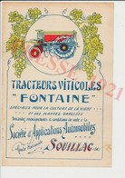 Tracteur Viticole Fontaine Souillac Lot Bizac Grand Café Tivoli Cahors Resseguier Nouyrit Malt Kleber Egletons 241/2 - Non Classificati
