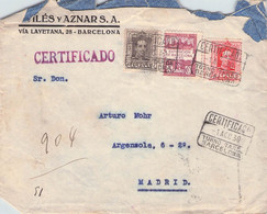 SPAIN - RECO 1930 BARCELONA > MADRID  //G43 - Lettres & Documents