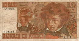 FRANCE  10 FRANCS  1975.C.   P-150 -CIRC - 10 F 1972-1978 ''Berlioz''