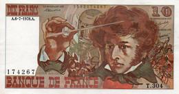FRANCE  10 FRANCS  1978.A.   P-150 -CIRC-AUNC - 10 F 1972-1978 ''Berlioz''