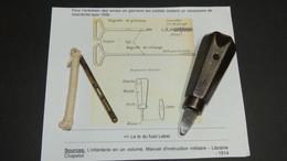 TOURNEVIS CHASSOIRE REGLEMENTAIRE POUR FUSIL LEBEL + LAVOIR A FICELLE - 1914-18