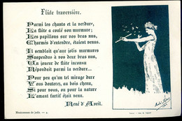 Cpa Illustrateur André Dupuis Poéme René D' Avril --  Flûte Traversière  --- Musicien Musique   NOV20-19 - Otros Ilustradores