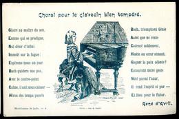 Cpa Illustrateur André Dupuis Poéme René D' Avril - Choral Pour Le Clavecin Bien Tempéré - Musicien Musique   NOV20-19 - Otros Ilustradores