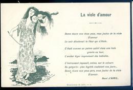 Cpa Illustrateur André Dupuis Poéme René D' Avril - La Viole D' Amour , Violon  - Musicien Musique   NOV20-19 - Otros Ilustradores