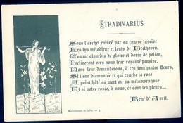 Cpa Illustrateur André Dupuis Poéme René D' Avril - Stradivarius  , Violon  - Musicien Musique   NOV20-19 - Otros Ilustradores
