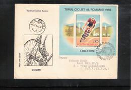 Romania 1986 Cycling Tour De Romania Block FDC - Cycling