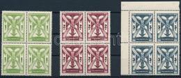 ** 1933 Repülő Sor Négyes Tömbökben / Airmail Set Blocks Of 4 (320.000) - Non Classificati