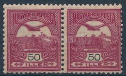 ** 1904 Turul 50f Sötétborvörös Pár 3. Vízjelállással (220.000) - Non Classificati
