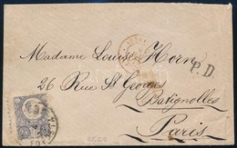 """1875 Levél Réznyomat 25kr Bérmentesítéssel, Párizsba Küldve """"ZAGREB"""" - Non Classificati"""