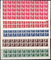 ** 1947 Szabadsághőseink Sor 50 Darabos Félívekben (125.000) - Non Classificati