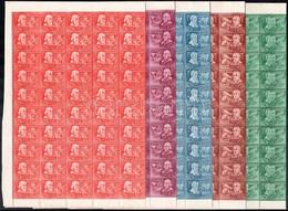 ** 1948 Feltalálók - Felfedezők Sor Hajtott ívekben (120.000) - Non Classificati