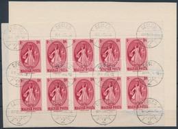 O 1949 Puskin 10-es Kisív Bal Oldalon Fogazatlan ívszéllel (100.000) Papírlapra Ragadva, A Jobb Oldali (elvált) Fogazáso - Non Classificati