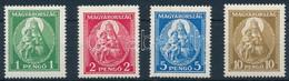 ** 1932 Nagy Madonna Sor, Apró Kék Festékfoltok A 10P Gumiján (80.000) - Non Classificati