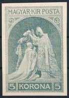 1910 Ferenc József Jubileuma 5K, Tary Lajos Kiadatlan Bélyegtervének Nyomata - Non Classificati