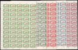 ** 1919 Magyar Tanácsköztársaság Sor 2f - 1.40K 16 Klf. értéke Teljes ívekben (65.000) / Mi 266-281 100 Short Sets In Co - Non Classificati