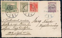 Debrecen 1919 A Román Királyi Párt ábrázoló Fotólap (Takács Debrecen) Magyar és I. és II. Kiadású Bélyegekből álló 4 Bél - Non Classificati