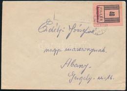 1945 Levél Nyíregyháza 40f Bélyeggel Abonyba, Orosz-magyar Kétnyelvű Cenzúrával - Non Classificati