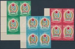 ** 1949 Alkotmány Sor ívszéli / ívsarki Négyes Tömbökben 2-2, A 60f-nél 3 Bélyeg Makkos Vízjellel (~50.000) - Non Classificati