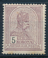 ** 1909 Turul 5K (54.000) (alul Enyhe Rozsda / Light Stain Below) - Non Classificati