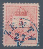 """O 1874 5kr 11 1/2 Fogazással, Kék """"ZENTA"""" Ritka DDSG Bélyegzéssel RRRR! - Non Classificati"""