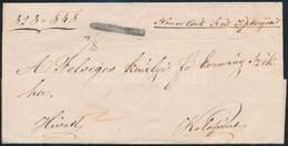 """1848 Levél Negatív / Cover Negative """"CSIKMARTONFALVA"""" + Kézírásos Dátum / Manuscript Date, To Kolozsvár (Müller 560 P, G - Non Classificati"""