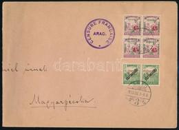 1919 Nagyalakú Levél Aradról 2 Db Arad és 4 Db Szeged Bélyeggel Bérmentesítve Magyarpécskára, Cenzúrázva. Certificate: F - Non Classificati