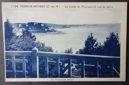 CPA 22 PERROS GUIREC - RARE - La Pointe De Ploumanach Vue Du Salon De Printania Hotel - Riviere Bureau 1744 - Ref. W 179 - Perros-Guirec