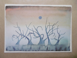 """Illustrateur Signé FOLON """"Demain - Tomorrow - Morgen"""" Aquarelle 1974 - Folon"""