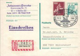 Dt. Ärztetag 1980 - Reco Berlin - Ganzsache Hochschwanstein Löffelbagger - Johann Nepomuk Von Ringseis - Medicine